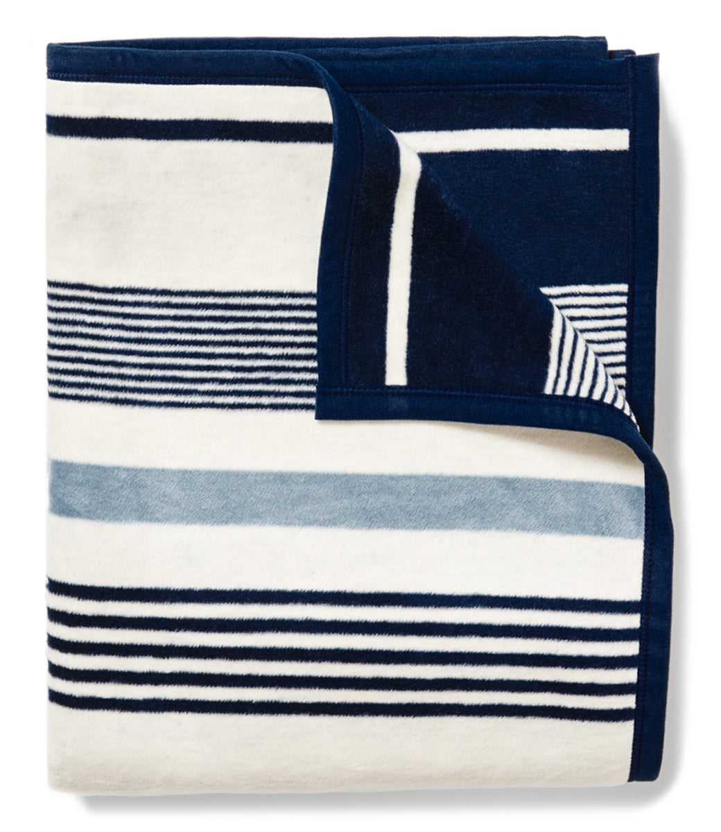 Shop Navy Bleu Stripes Blanket