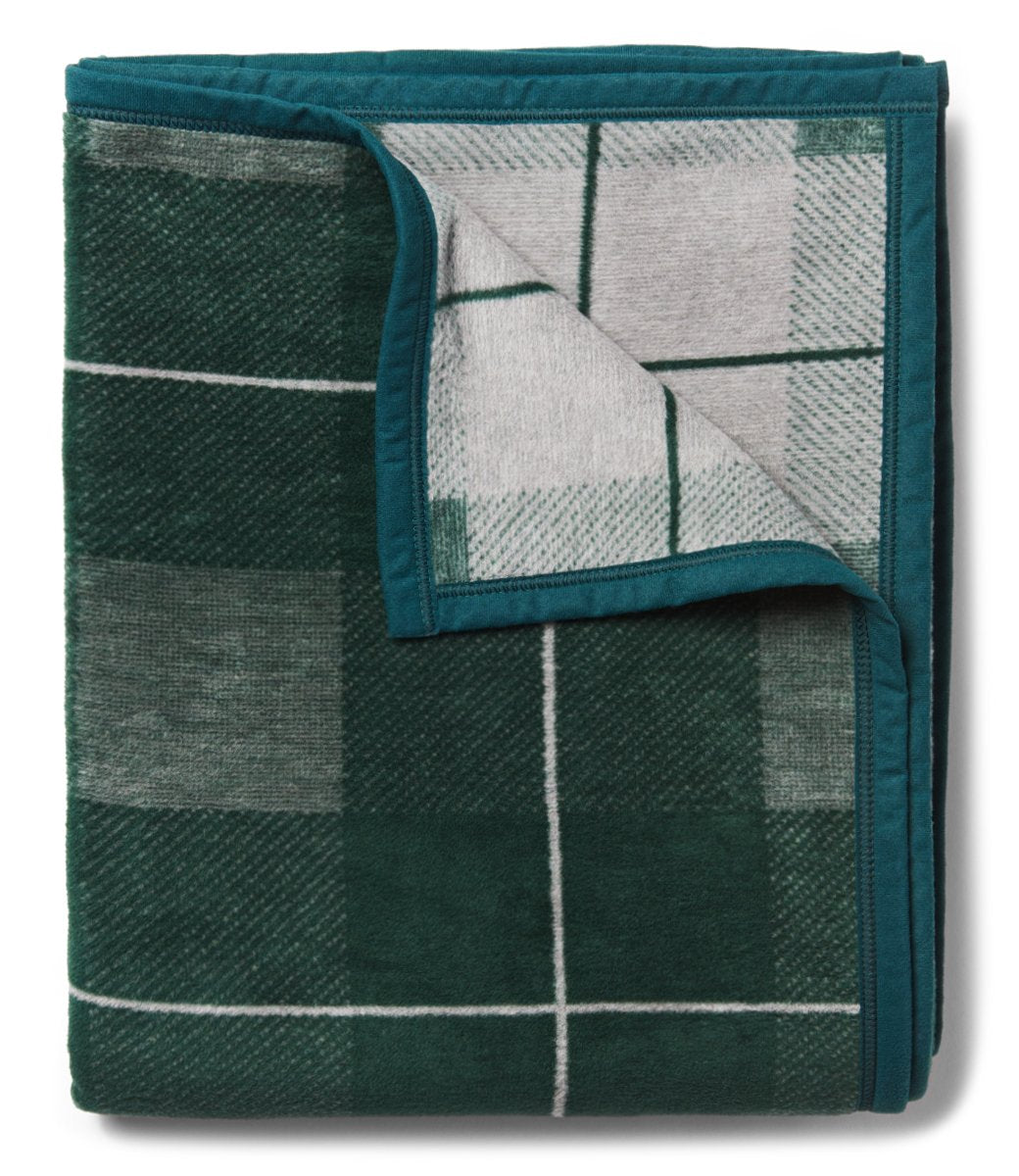 Sea Watch Plaid Green Blanket