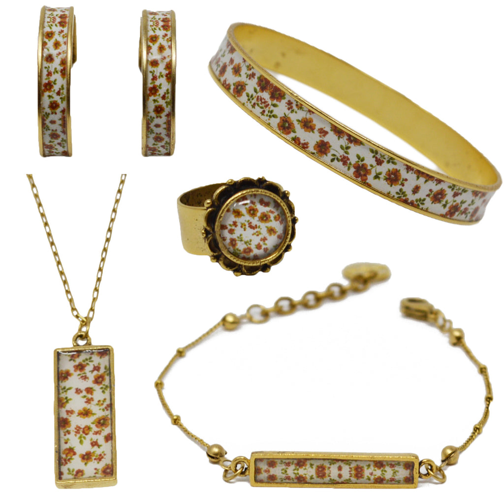 Autumn Fields Floral Jewelry Set
