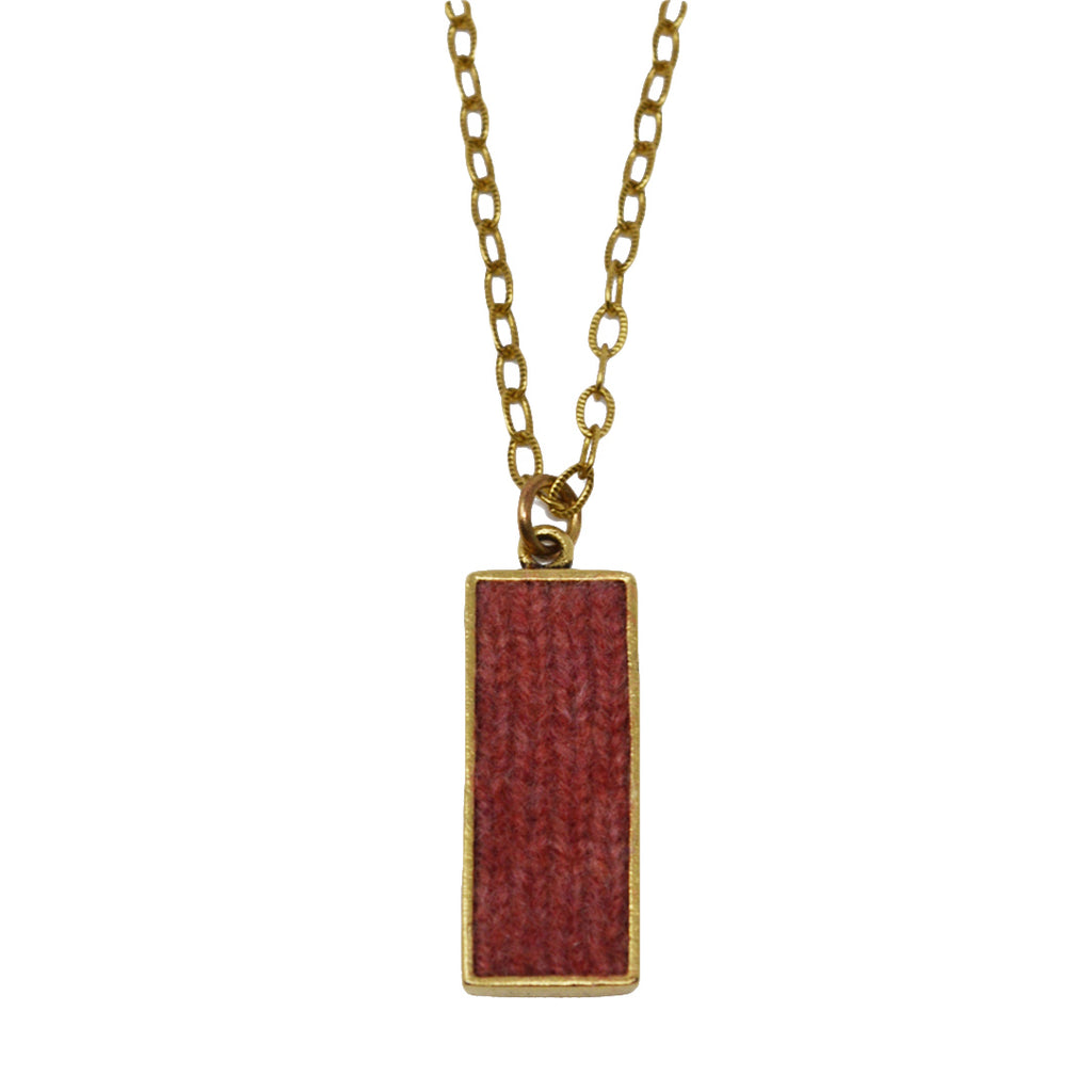 Berry Cashmere Pendant Necklace