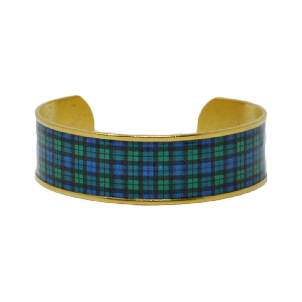 Black Watch Plaid Cuff Bracelet