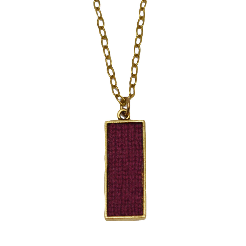 Burgundy Cashmere Pendant Necklace