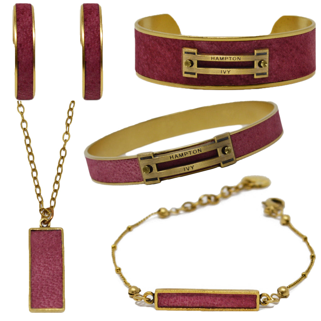 Crimson Suede Jewelry Set
