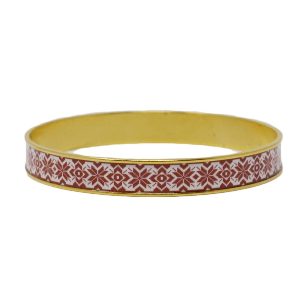 Fair Isle Bangle Bracelet