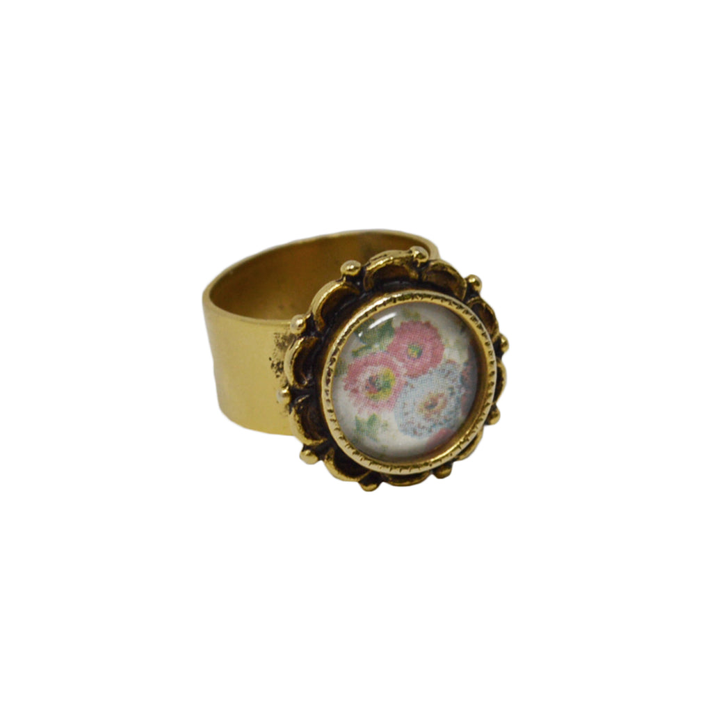 Floral Adjustable Ornate Ring
