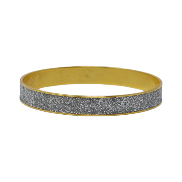 Women's Classic Bangle Bracelet - Silver & Gold