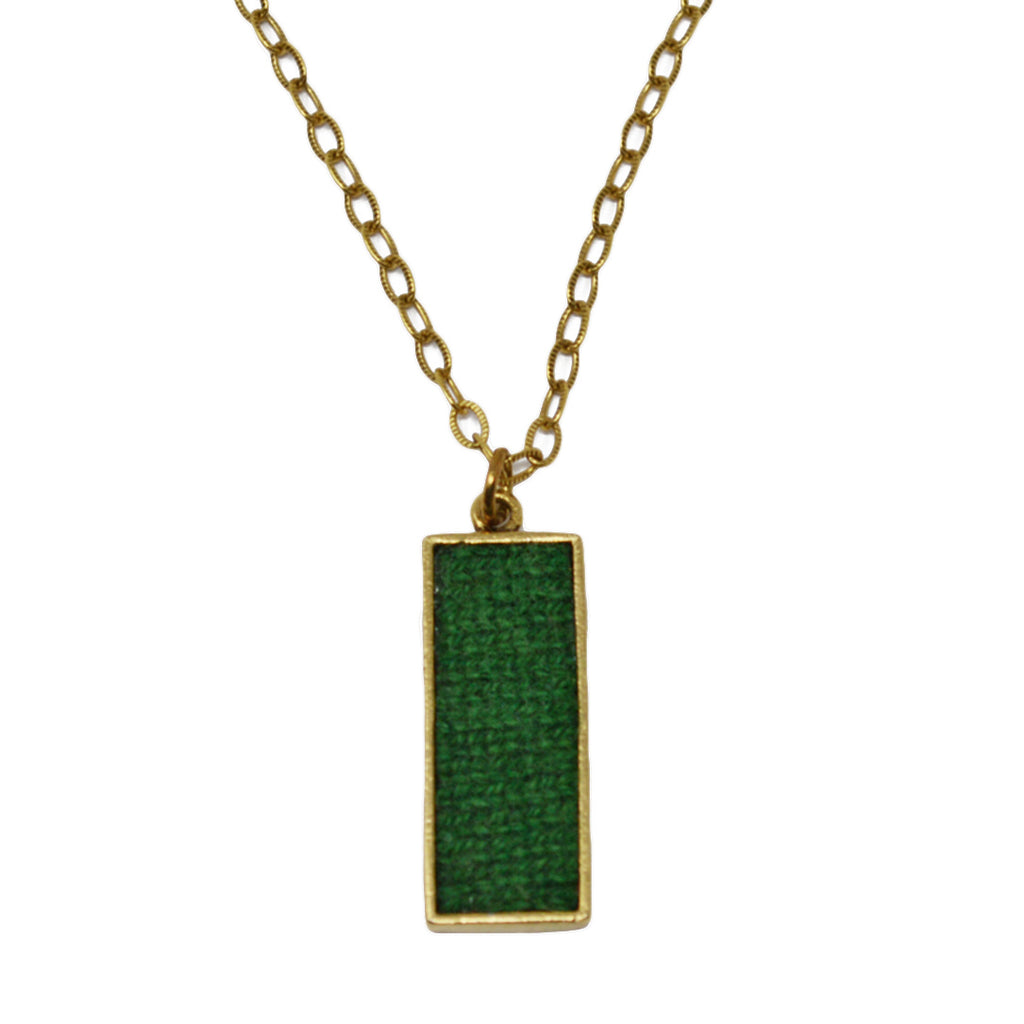 Green Cashmere Pendant Necklace