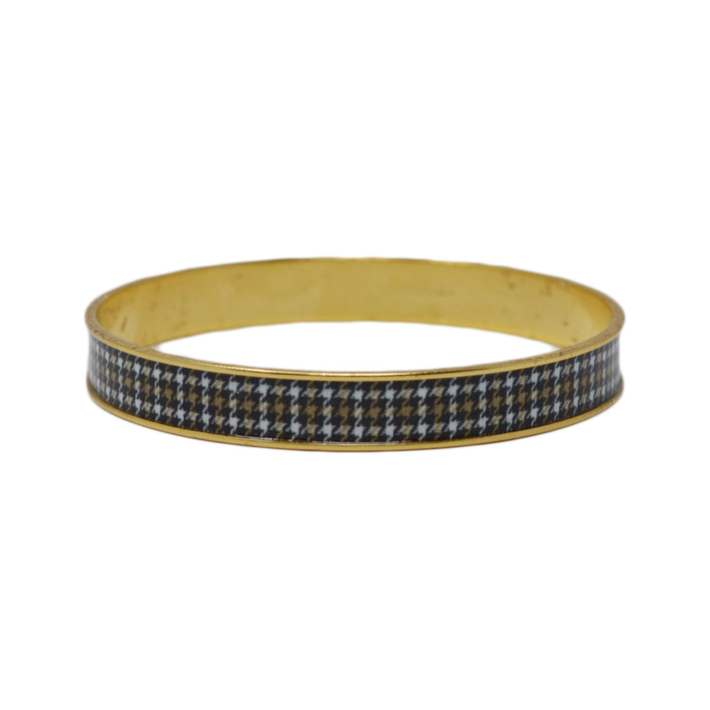 Riding Houndstooth Bangle Bracelet