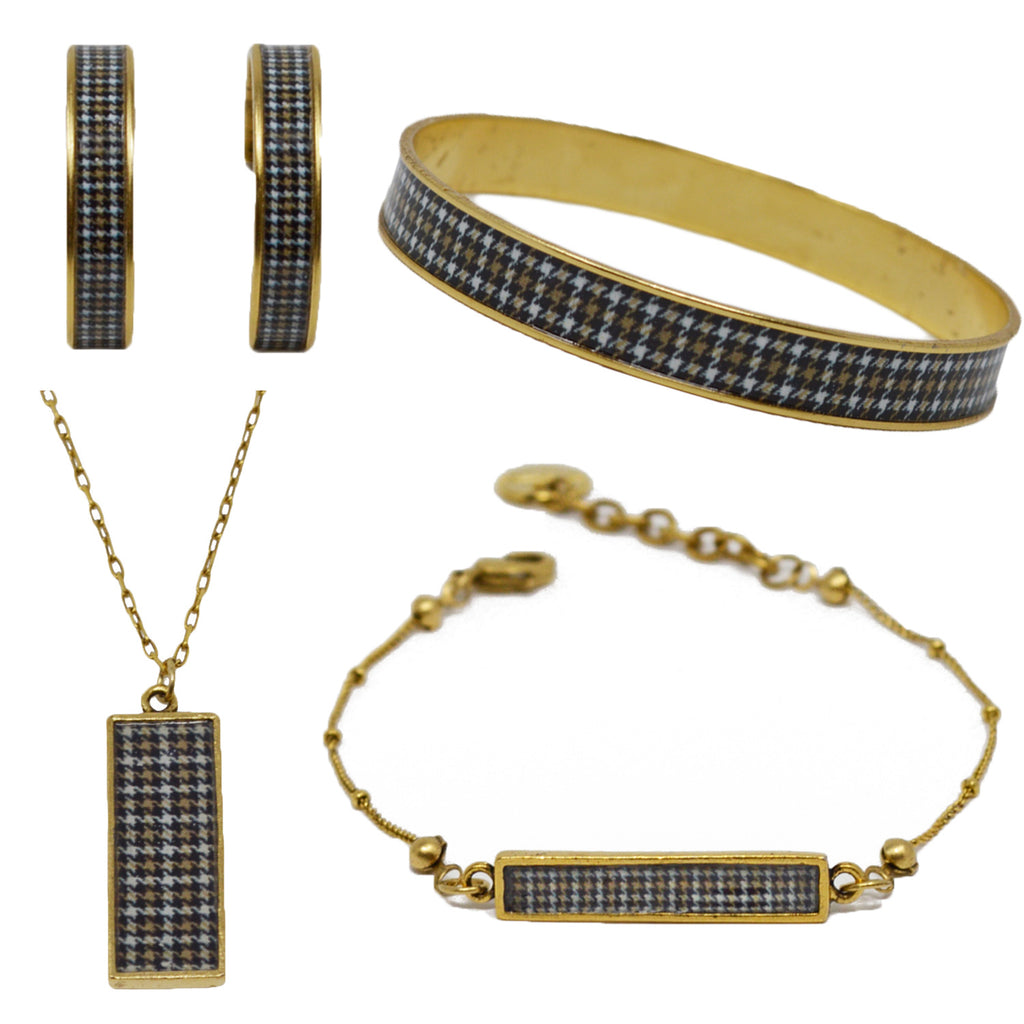 Riding Houndstooth Jewelry Set