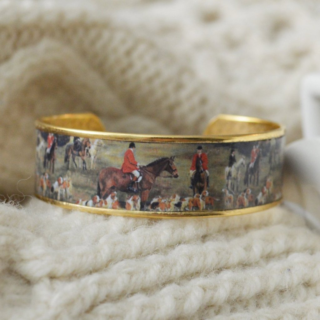 """Love of the Hunt"" Hunt Scene Cuff Bracelet"