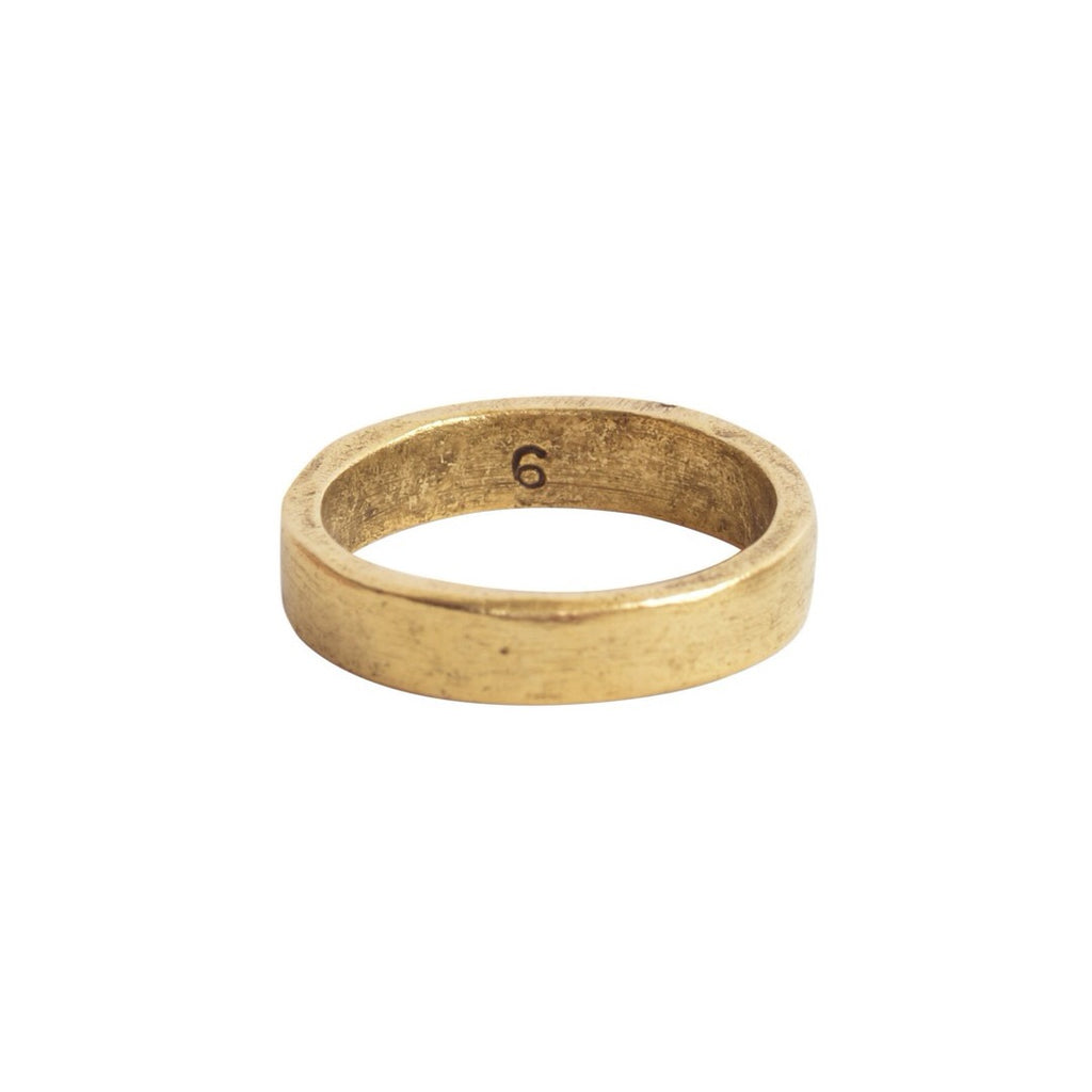 Antiqued Gold Hammered Ring - Size 6