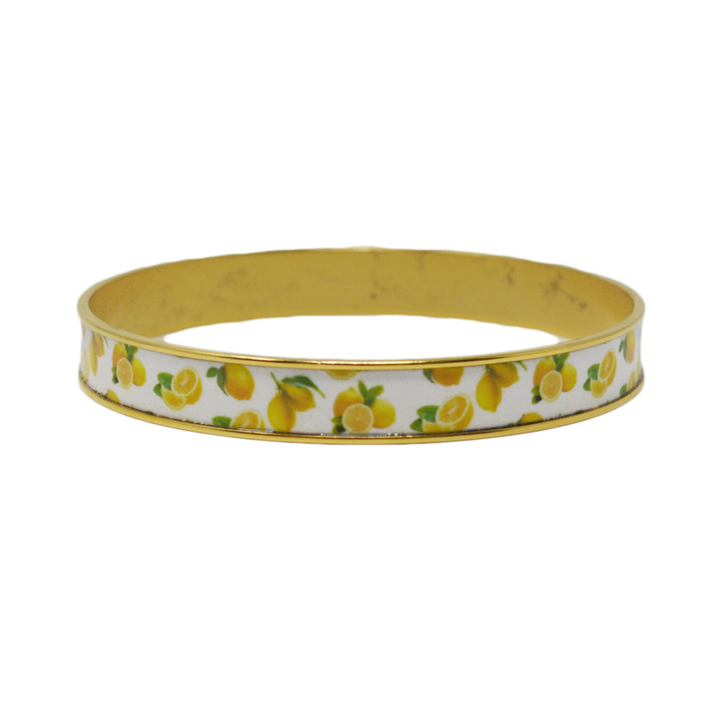 Summer Lemons Bangle Bracelet