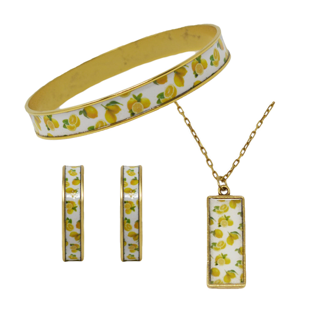 Summer Lemons Jewelry Set