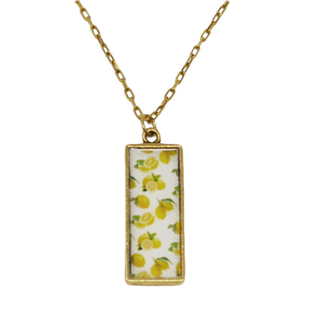 Summer Lemons Pendant Necklace