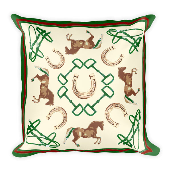 """Stile Equestre"" - Throw Pillow"