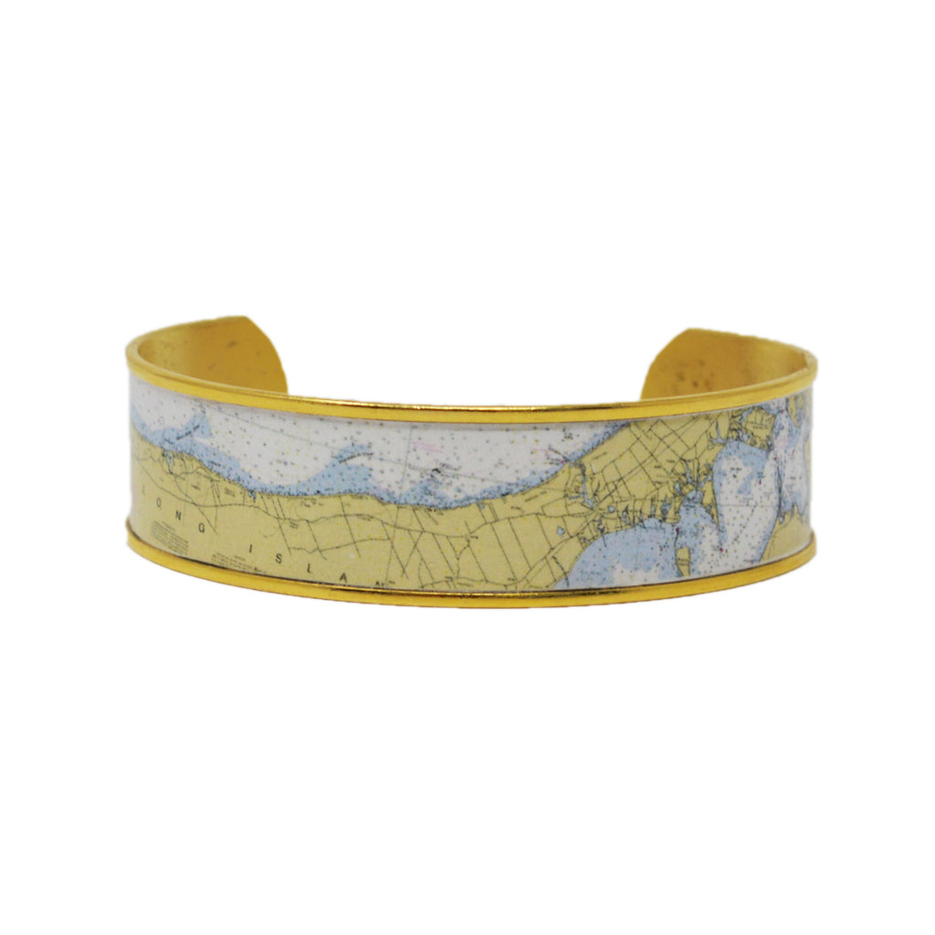 Custom Nautical Chart Cuff Bracelet