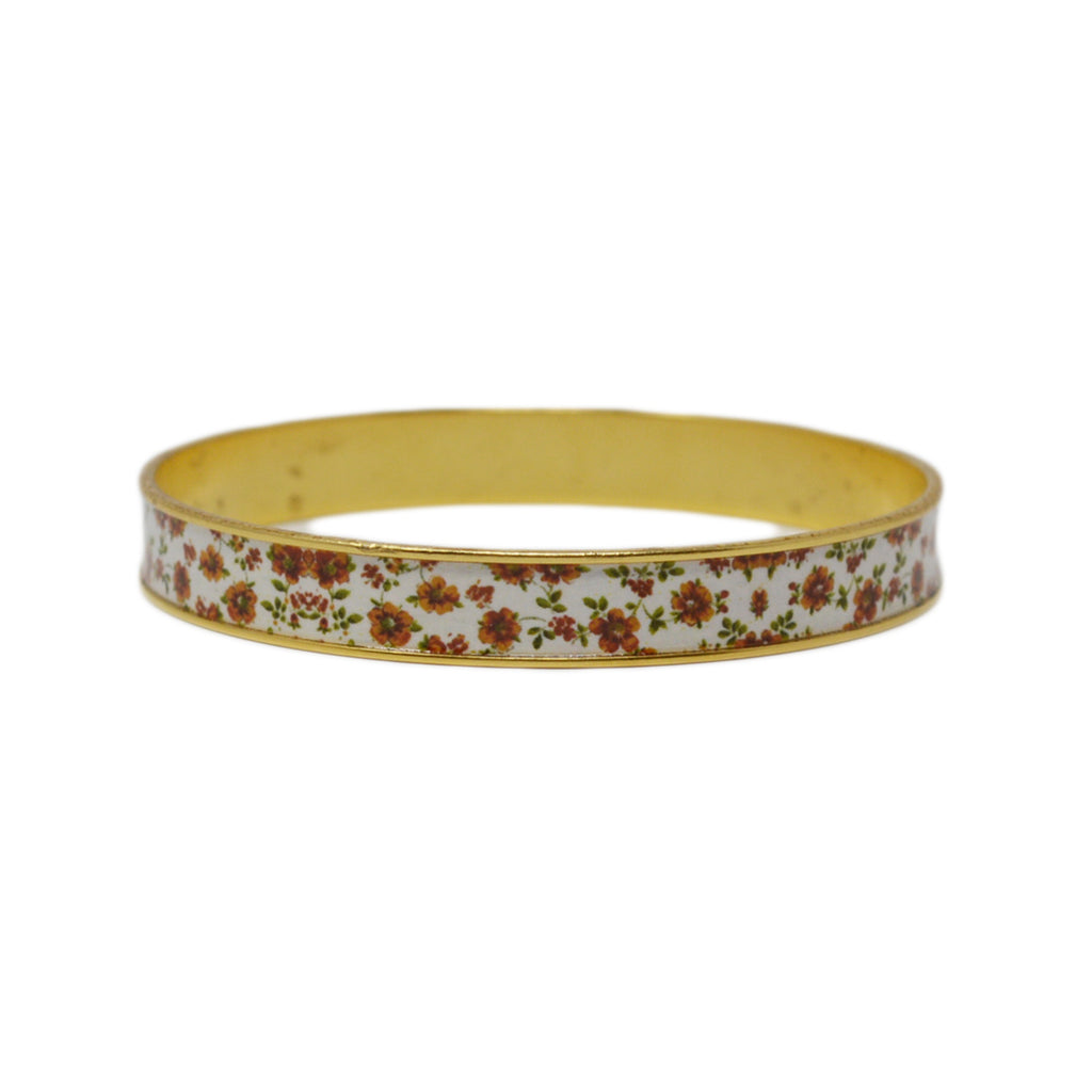 Autumn Fields Floral Bangle Bracelet
