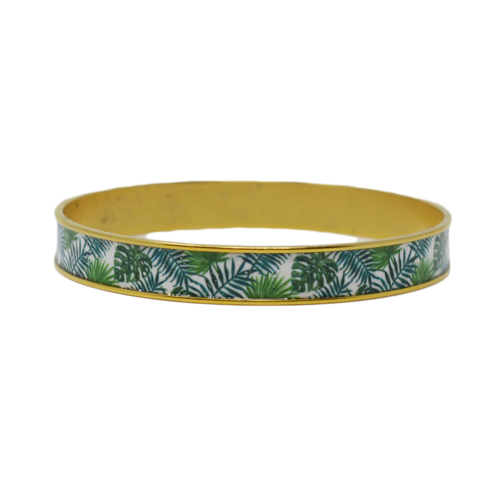 Palm Beach Palm Leaves Bangle Bracelet