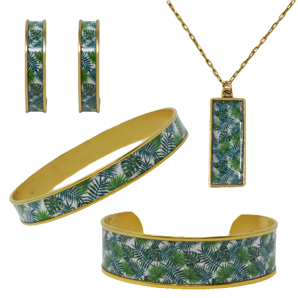 Palm Beach Palm Leaves Jewelry Set
