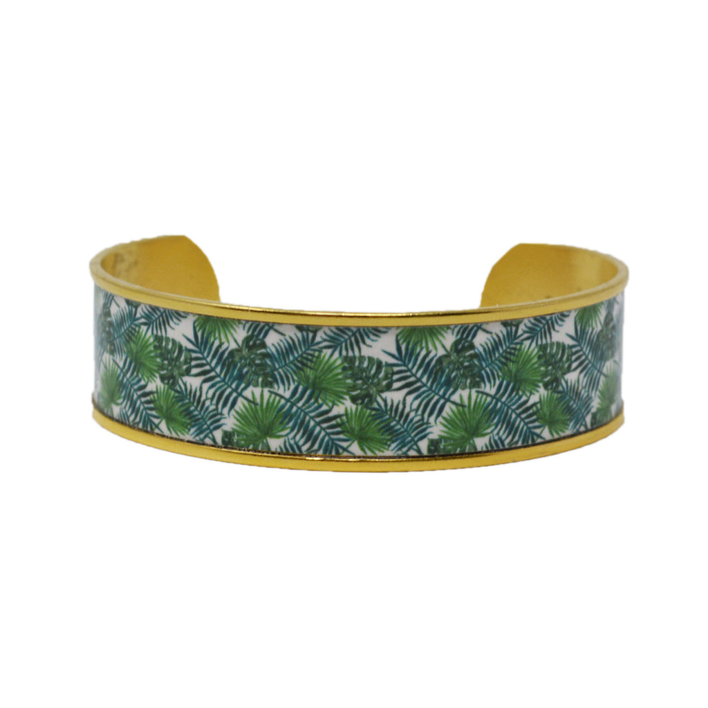 Palm Beach Palm Leaves Cuff Bracelet