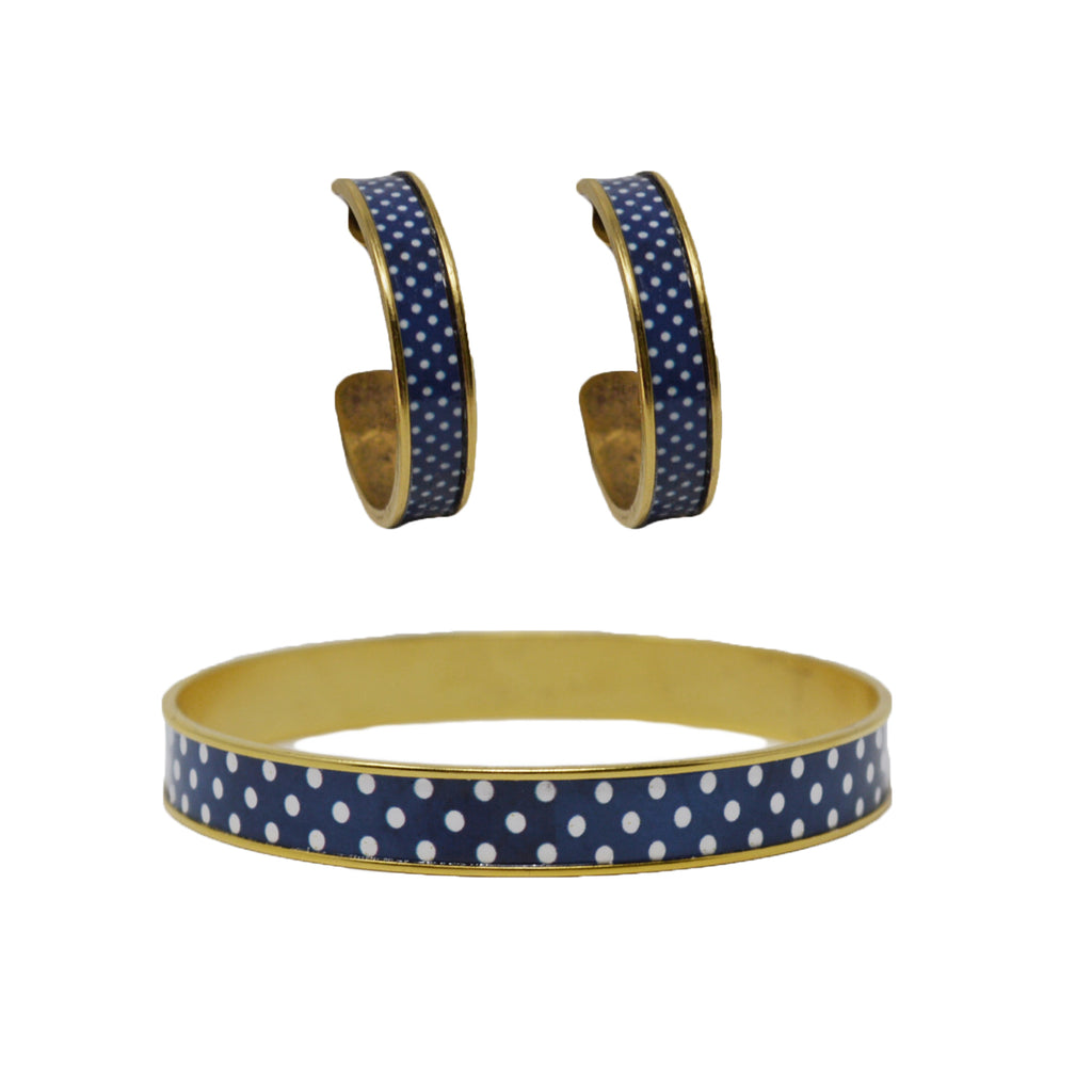 Navy Polka Dot Jewelry Set