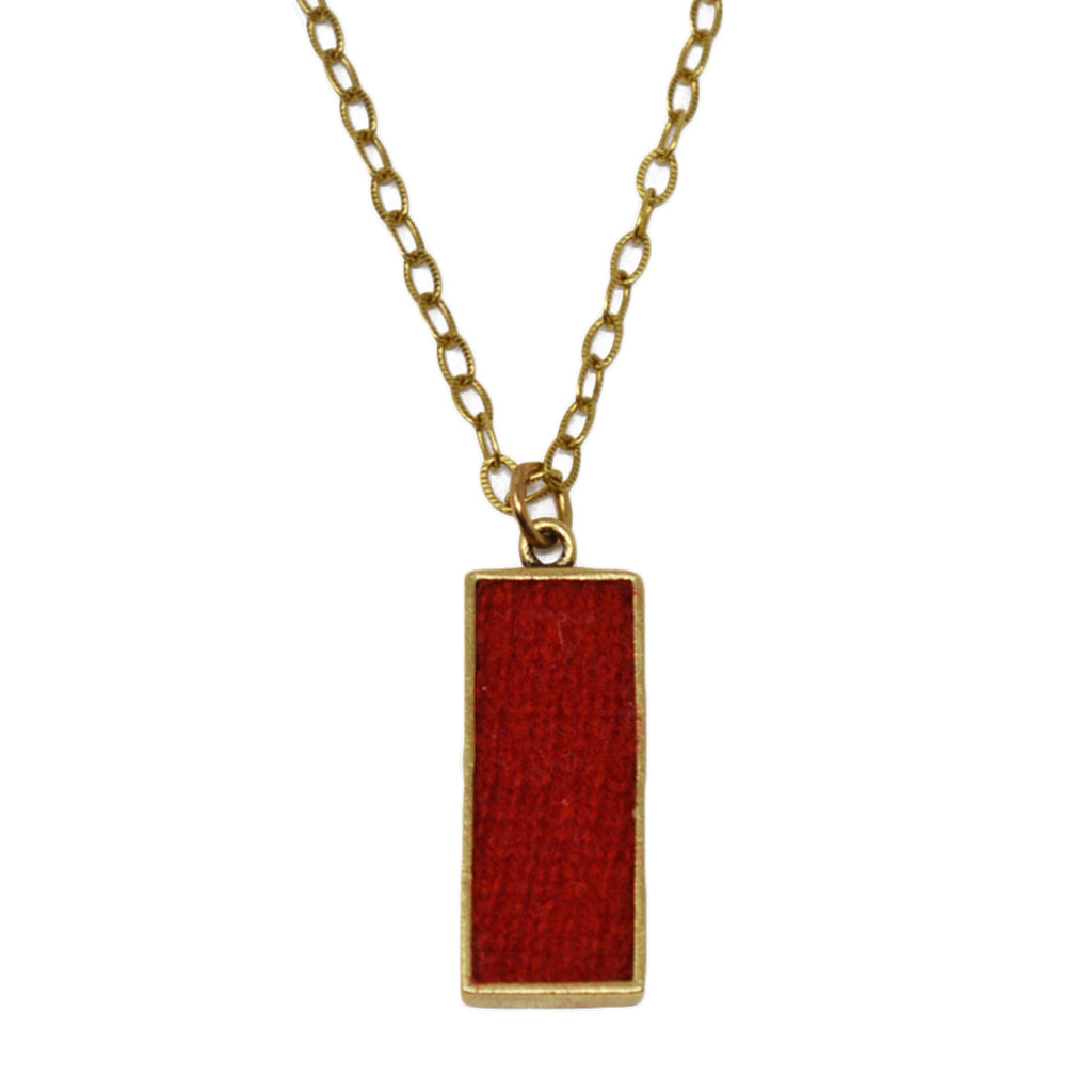 Red Cashmere Pendant Necklace