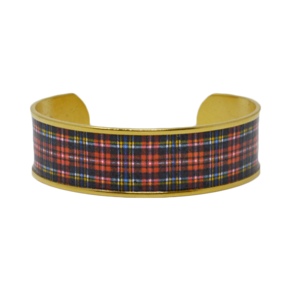 Classic Red Plaid Cuff Bracelet