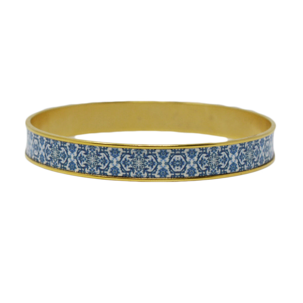 Mediterranean Royal Blue Tile Bangle Bracelet