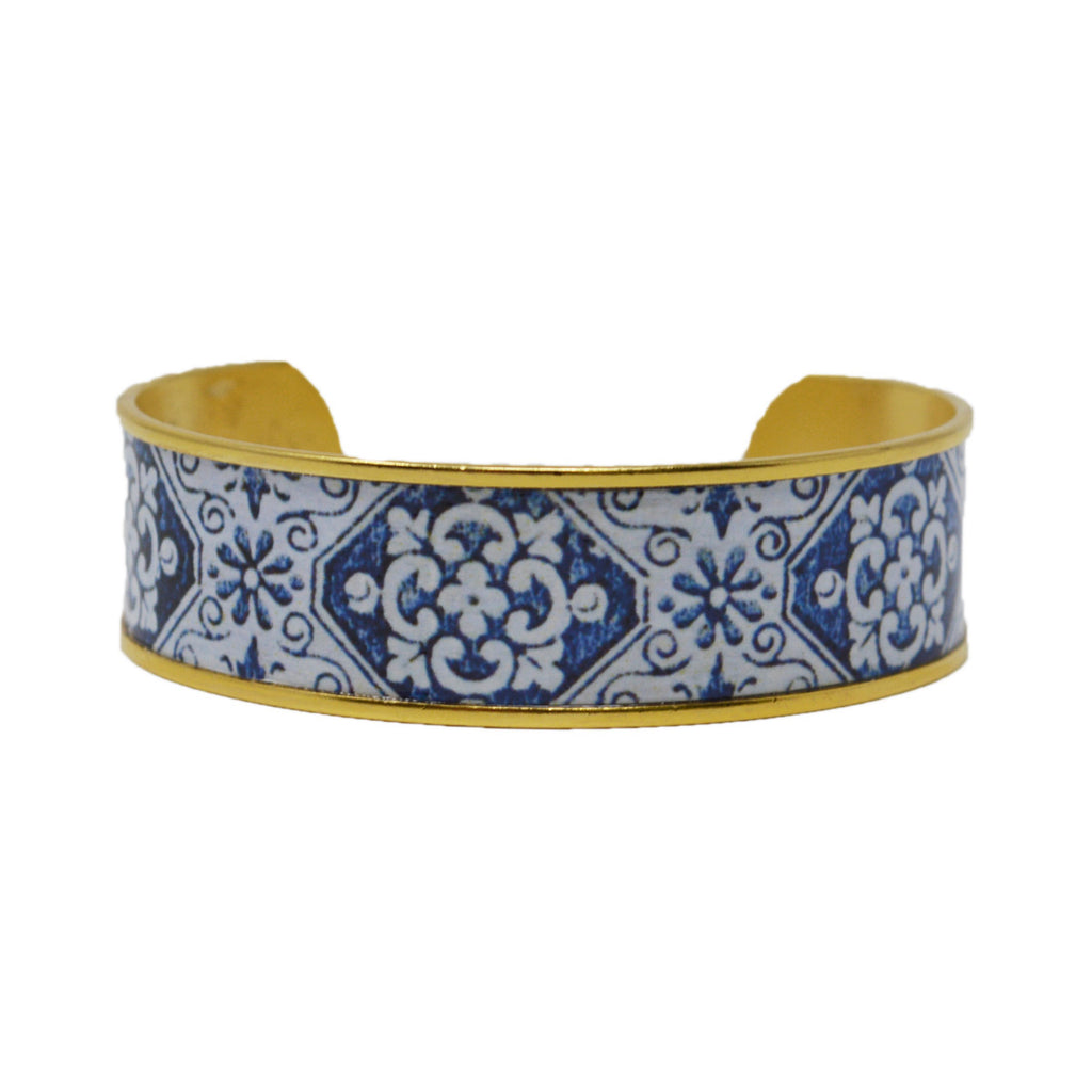 East End Royal Blue Tile Cuff Bracelet