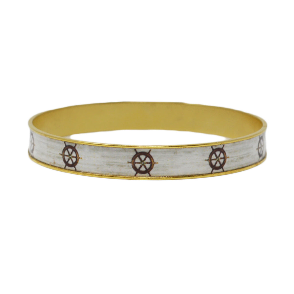 Boat Steers Bangle Bracelet