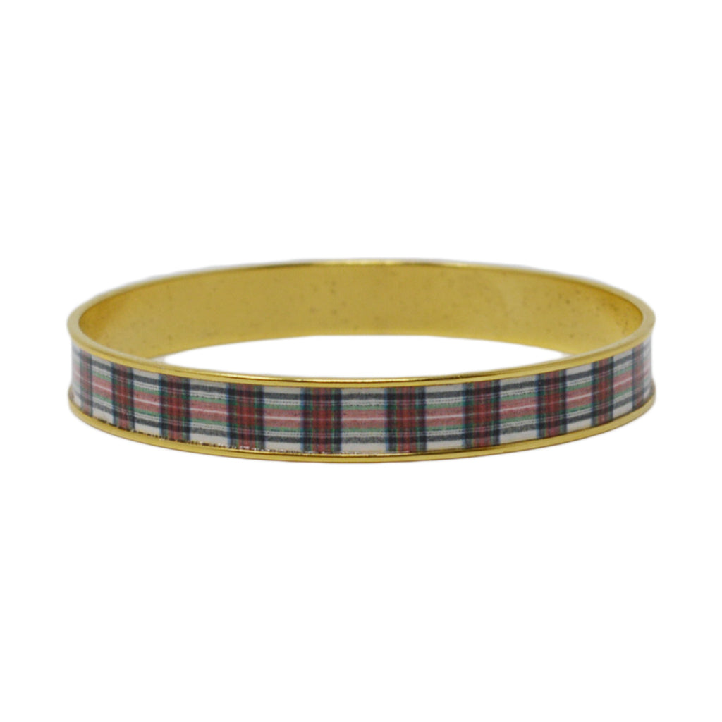 Stewart Plaid Bangle Bracelet