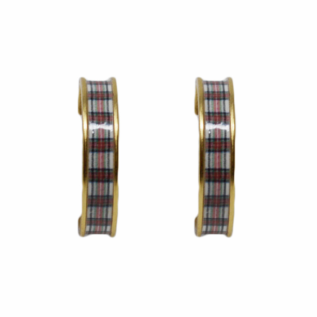 Stewart Plaid Hoop Earrings