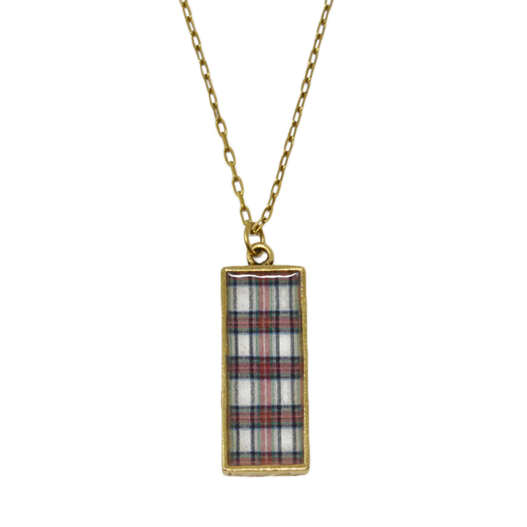 Stewart Plaid Pendant Necklace