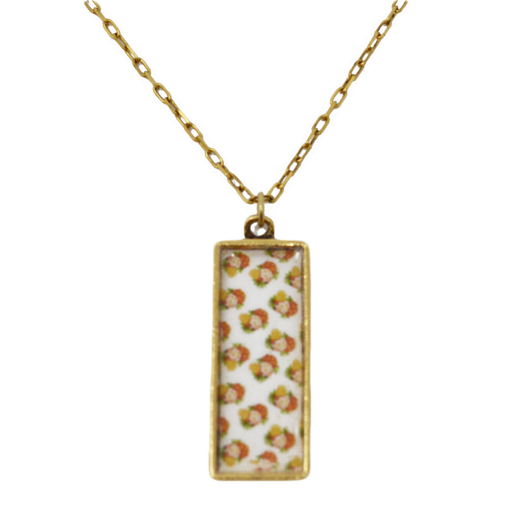 Warm Summer Floral Pendant Necklace
