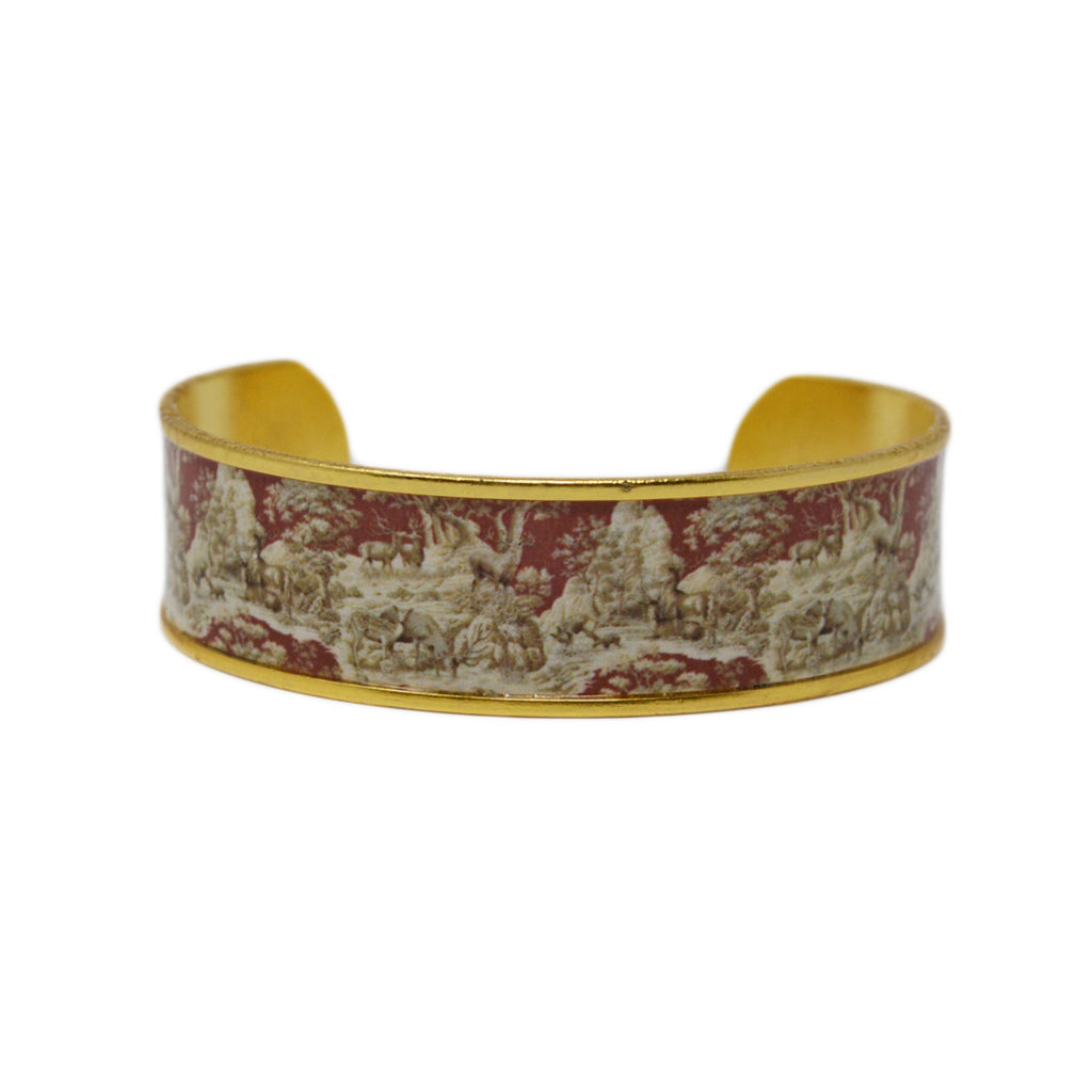 Whitetail Toile Cuff Bracelet