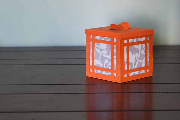 Luminary orange with white windows industrial home decor