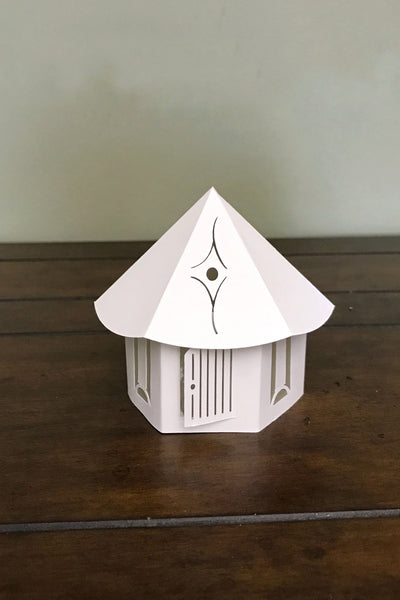 Tiny House Tealight cover White Front