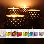 "Tea Light Pot ""DOME"" - COLORED Outer"