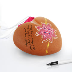 "Terracotta Gift Shell ""HEART"" for Raksha Bandhan"
