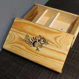 Wooden BOX 4 Personal Assets : Organizer for Important Documents and Valuables (AB01)