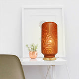"""BARREL"" (L) : Decorative TABLE LAMP with wooden base"