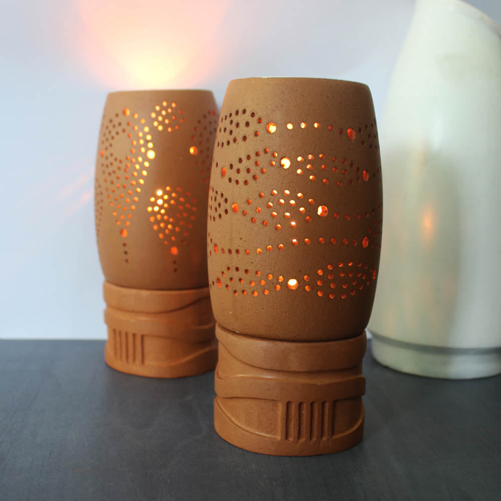 """BUD"" 3 : Candle / Tealight Pod : set of 2"