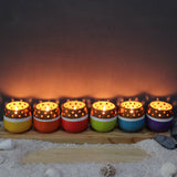 Candle Pod - MiNi Colourful (set of 6 candle pots in 6 colours)