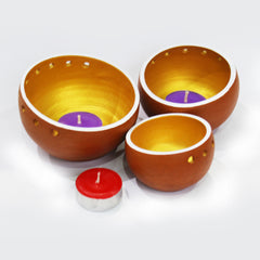 "EXCLUSIVE Candle Pod ""DRUM"" - set of 3 pods +12 tea lights"