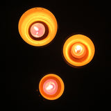 "EXCLUSIVE Candle Pod ""DRUM"" - set of 3 pods +6 perfumed t-lights"
