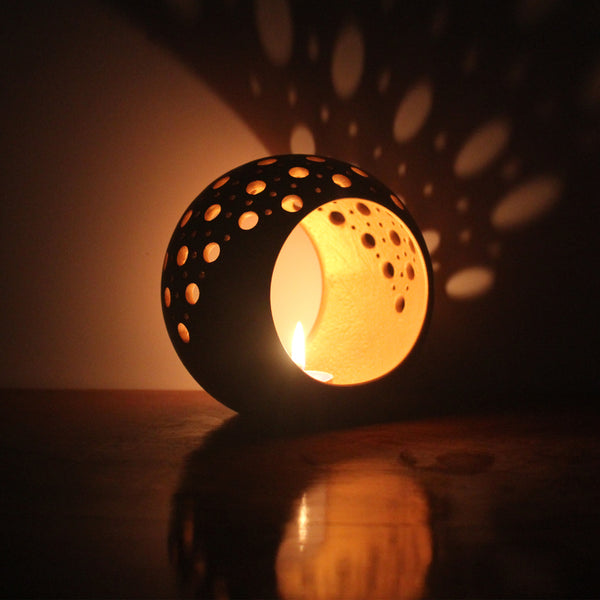 """RING"" - 1 tea light holder + 6 tea lights"