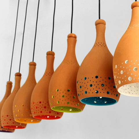 """COCO"" XL1 Terracotta Hanging Light"