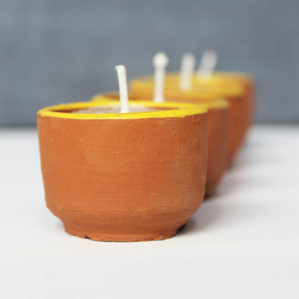 Terracotta CUP Candles : Set of 50  Aromatic Candles