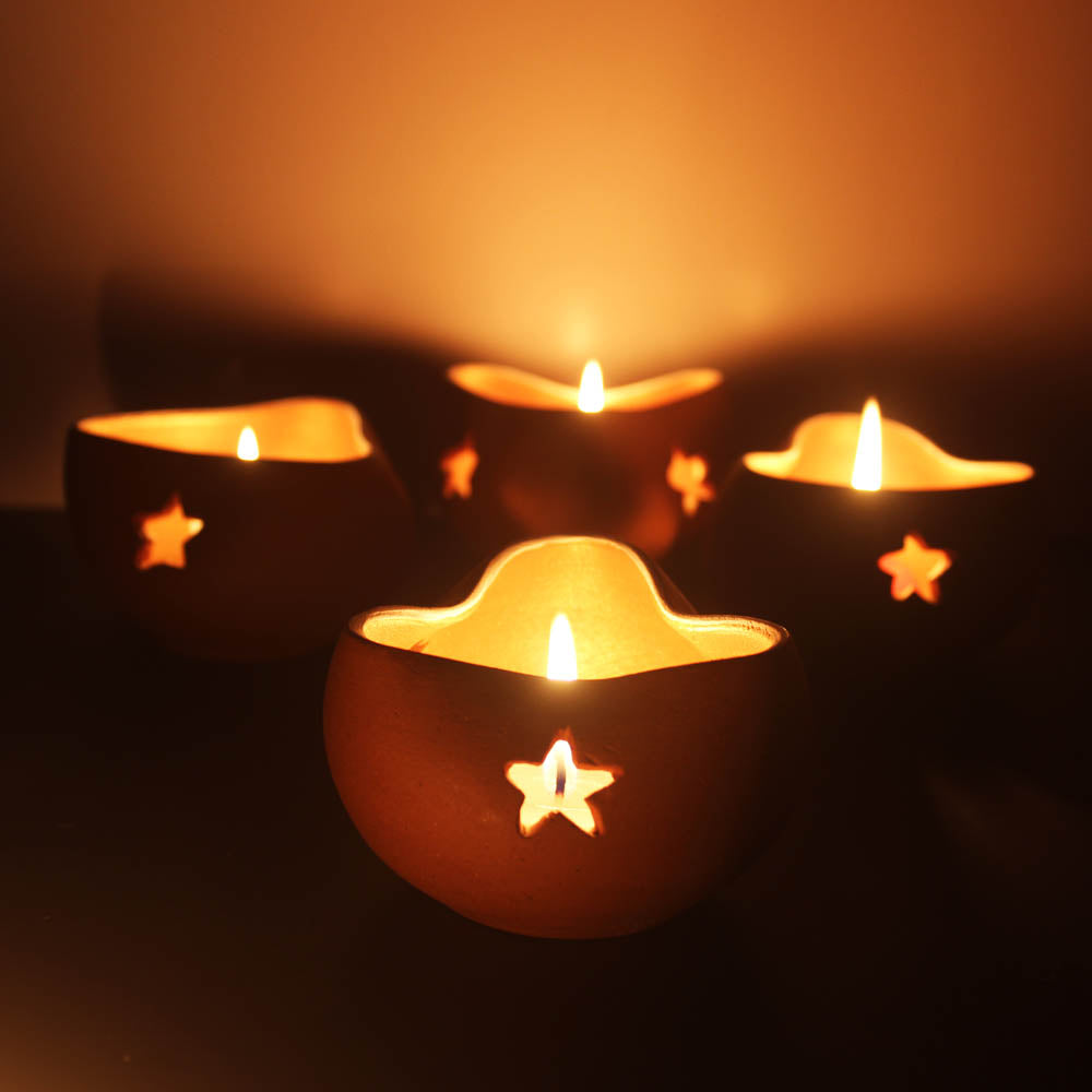 """CHIRAG 3"" Candle Holder : Set of 4"