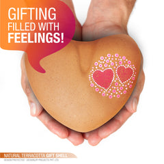 "Terracotta Gift Shell ""HEART"""